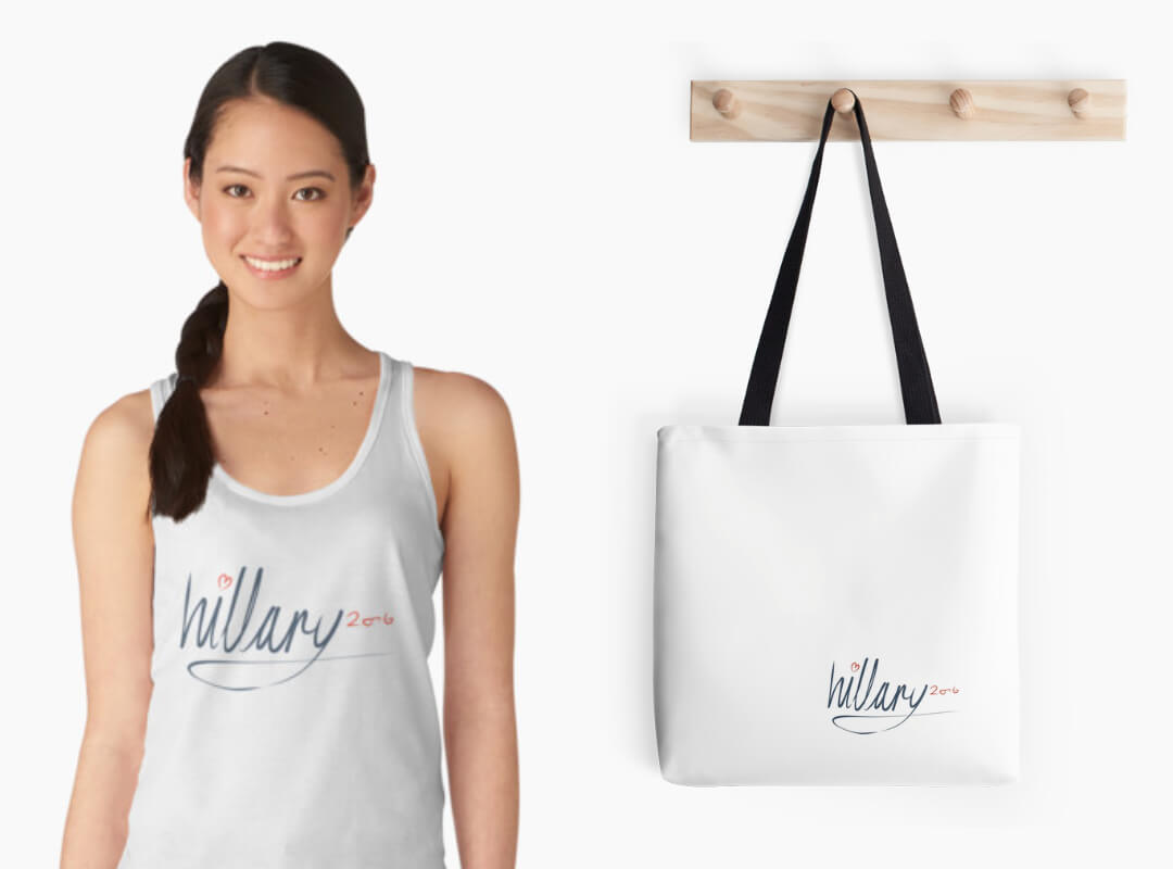 Hillary 2016 Signature Tank Top Tote Bag