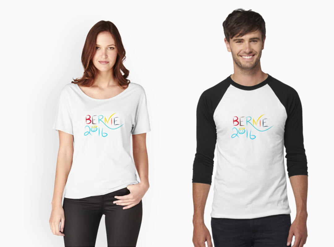 Bernie 2016 Peace and Happiness T-shirt