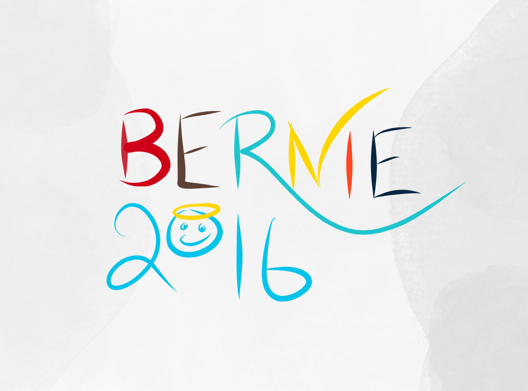 Bernie 2016 Peace and Happiness T-shirts and Tote Bags