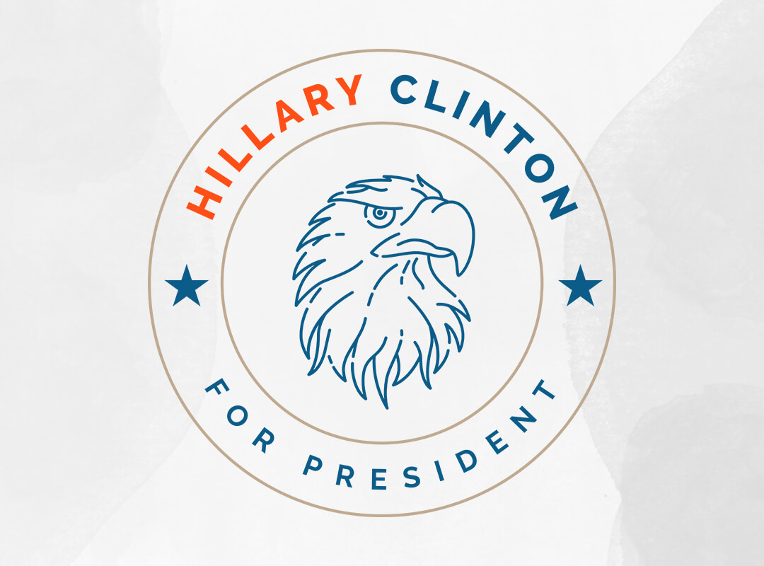 Hillary Clinton Patriotic Eagle Mark T-shirts, Stickers and Tote Bags