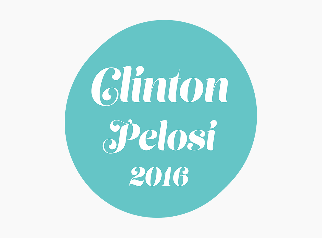 Clinton Pelosi T-shirts amd Stickers