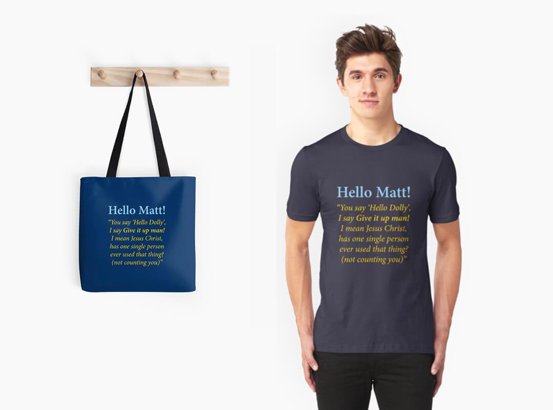 Hello Dolly Wordpress T-shirt Tote Sticker