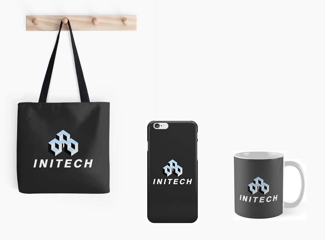 Initech Logo Tote Bag iPhone Skin Mug