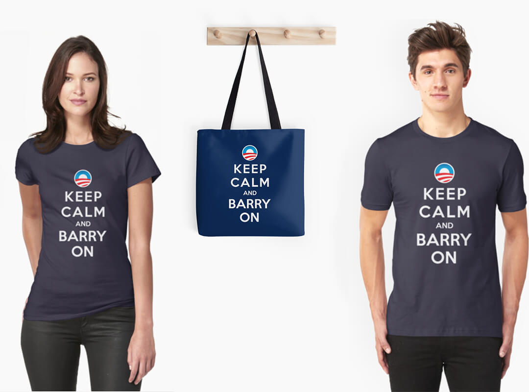 Keep Calm and Barry On t-shirts stickers tote bag