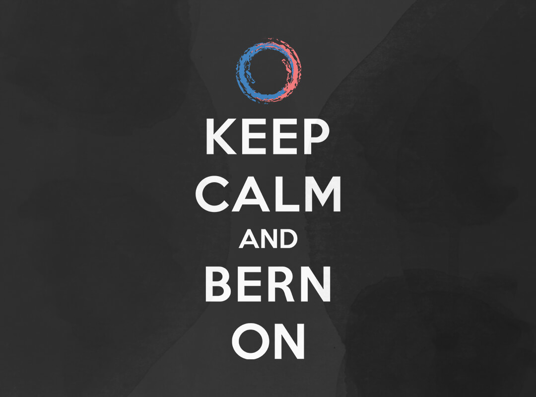 Keep Calm and Bern on Bernie Sanders T-shirts