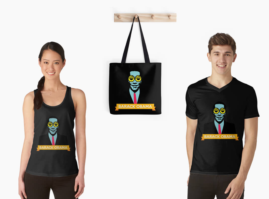 Obama Pop Art Tank Top T-shirt Tote Bag