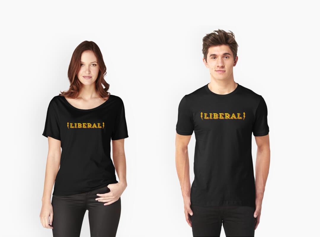 Rock n Roll Liberal T-shirt Sticker Tote Bag