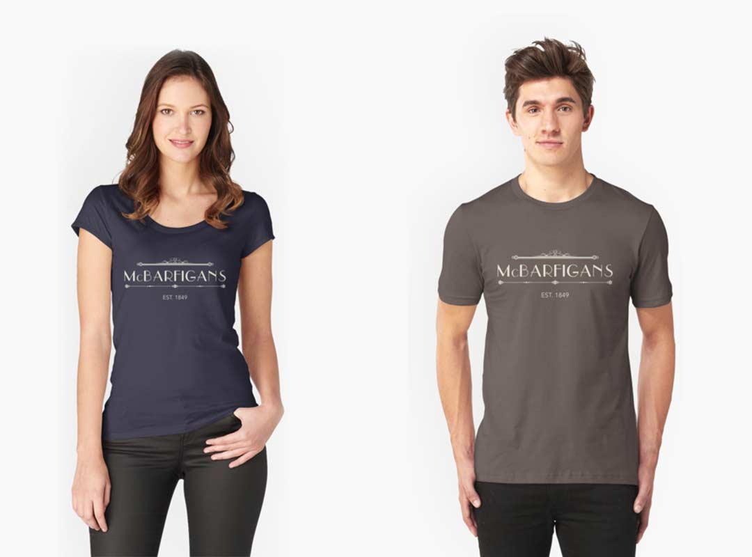 McBarfigans Bar T-shirts