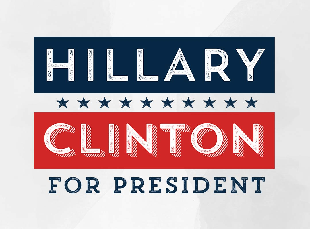 Retro Hillary for President Shirts & Stickers