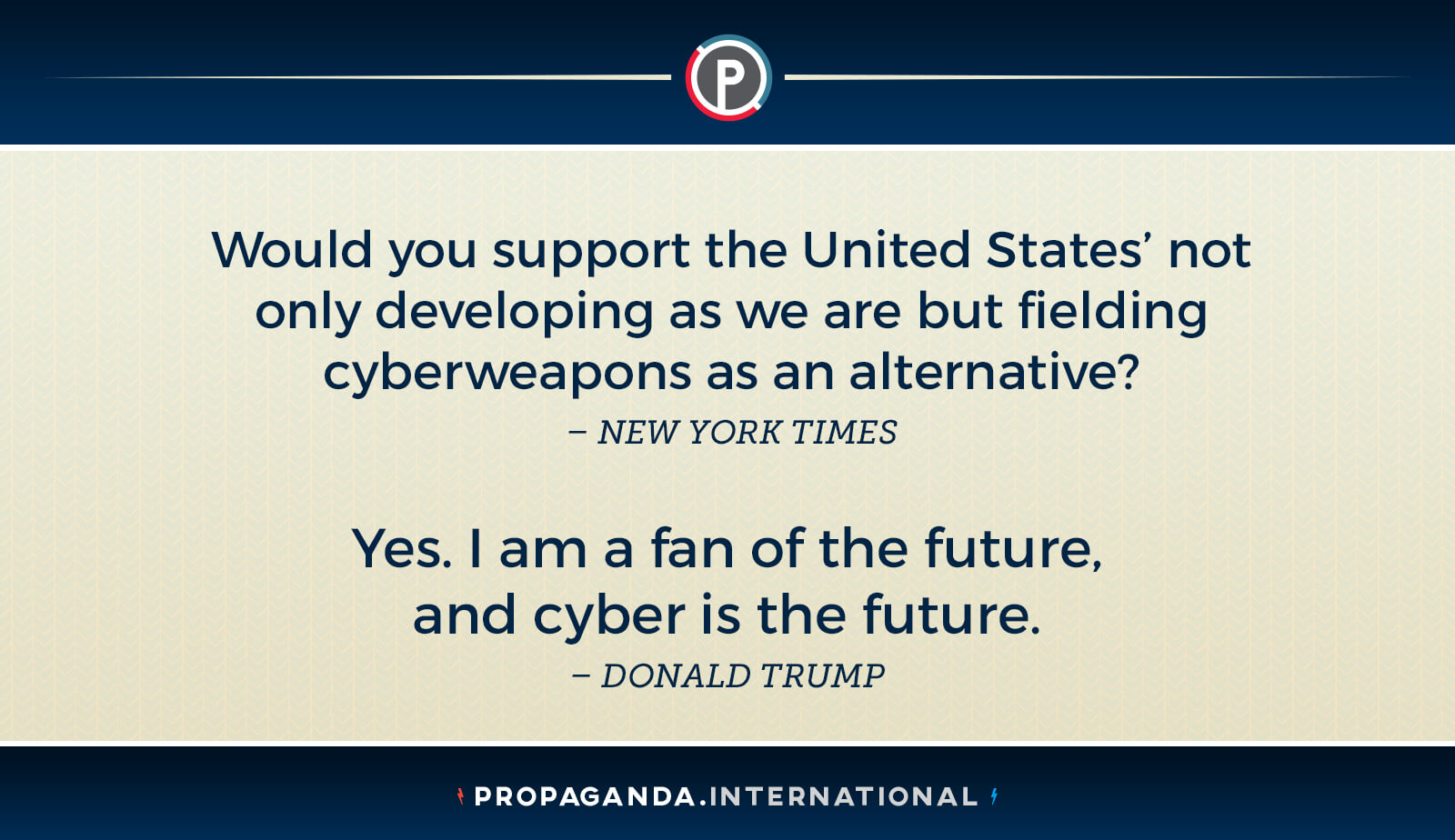 Cyber is the future