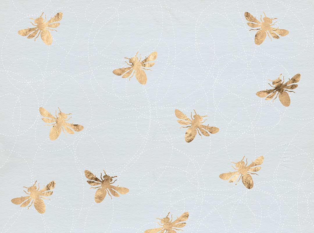 Rose Gold Bee Pattern