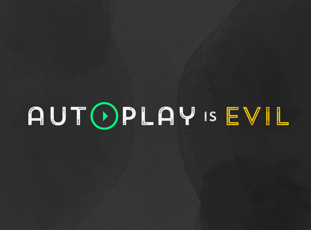 Autoplay is Evil T-shirts