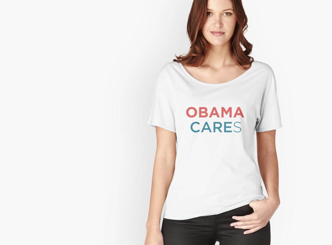 Obama Cares T-shirts Stickers