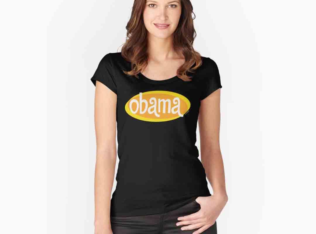 Retro Yellow Obama shirts stickers