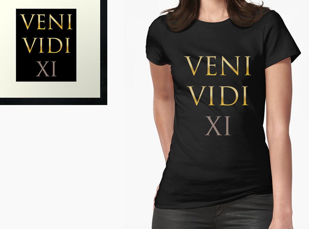 Veni Vidi Vici Chapter 11 Trump T-shirt