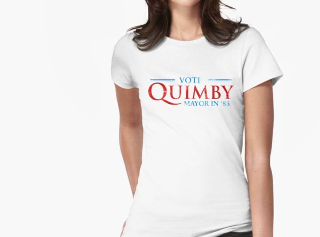 Vote Quimby in 1988 shirt stickers