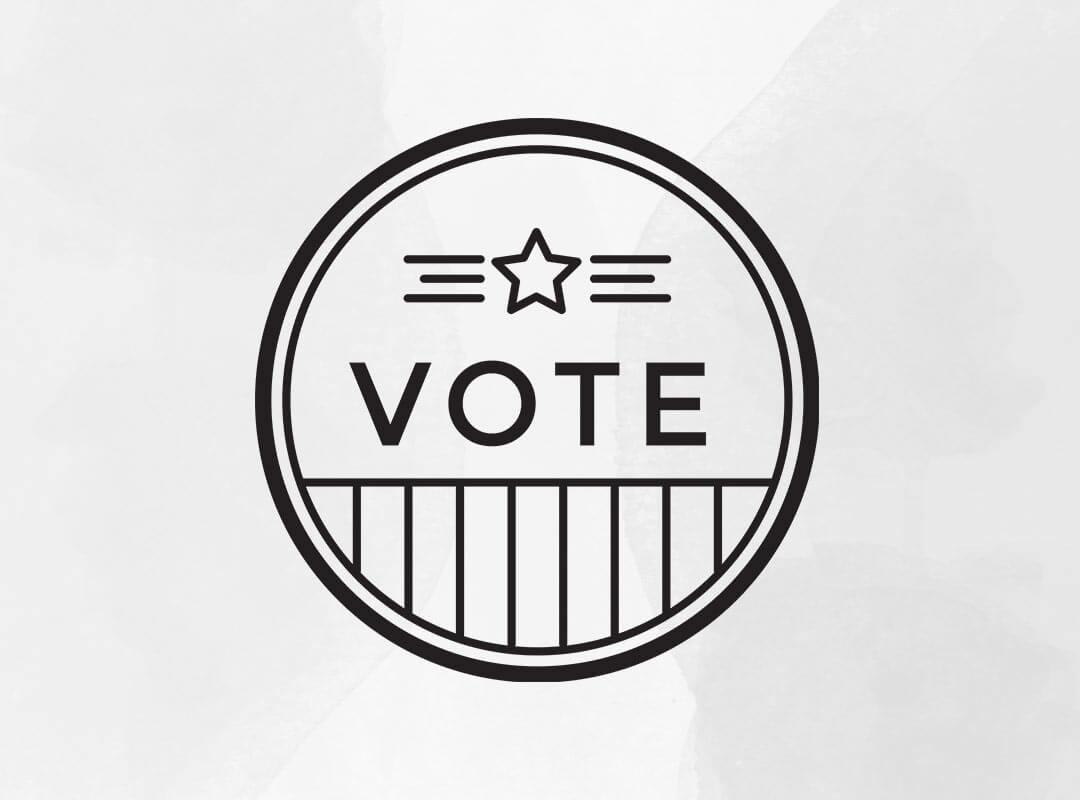 Vote T-shirts Black White