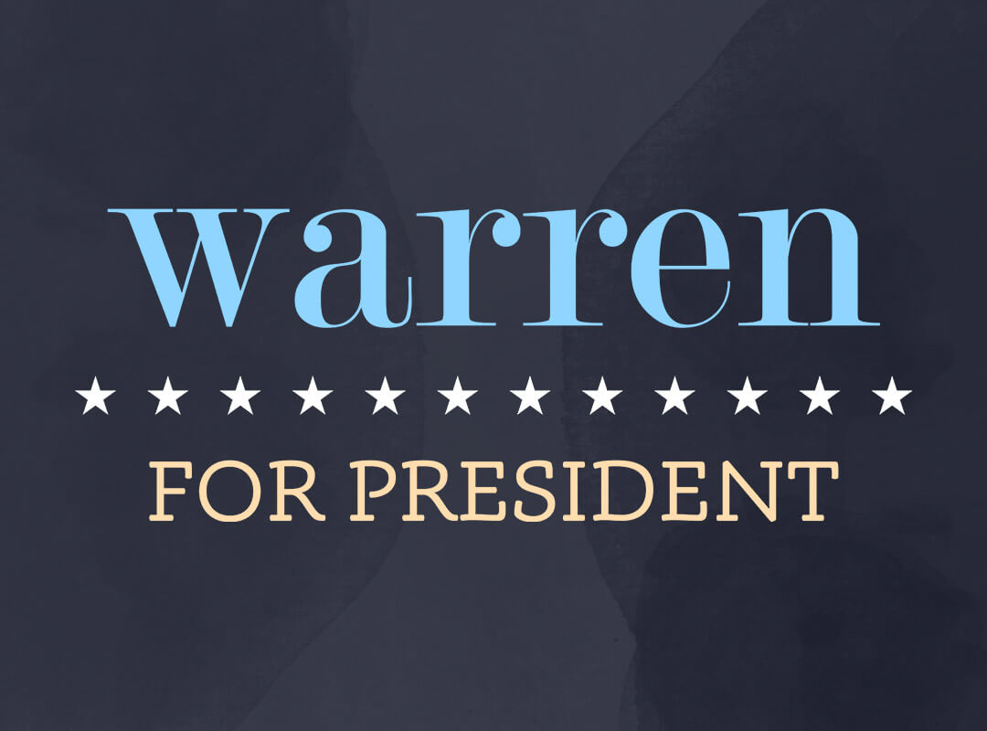 Elizabeth Warren for President t-shirts