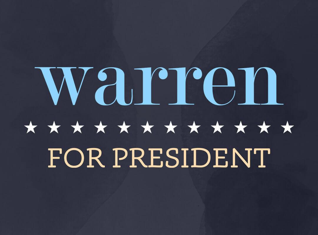 Elizabeth Warren for President t-shirts