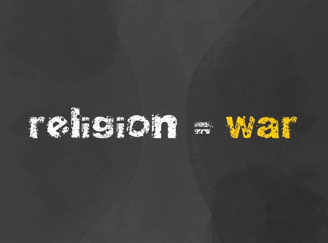 Religion is War shirt poster sticker