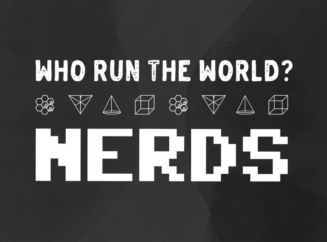 Run The World Nerds T-shirt Sticker