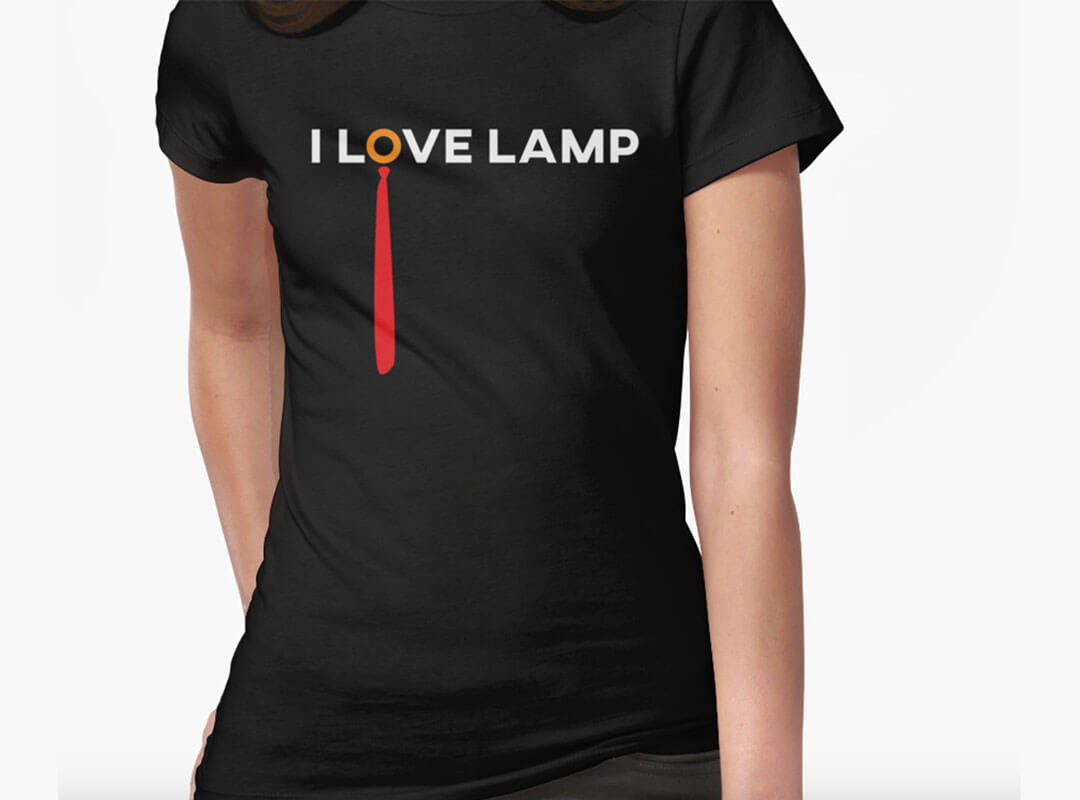 Love Lamp T-shirts Stickers