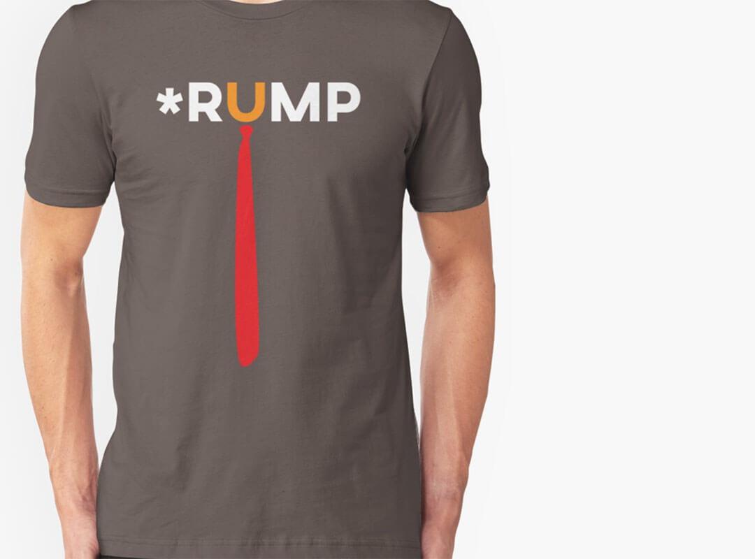 *Rump Trump Word T-shirt