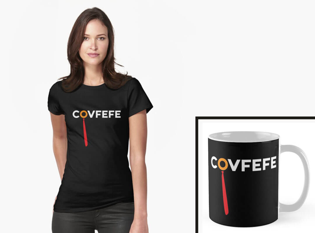 Anti Trump Covfefe Tee Coffee Mug