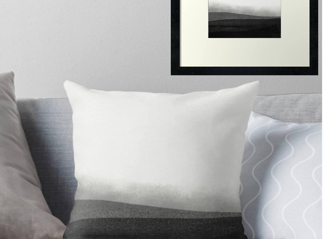 Dark Pattern Poster Pillow Phone Case