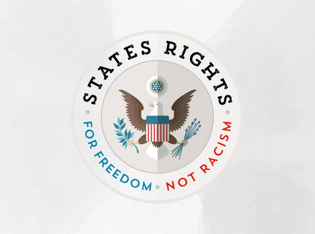 States Rights - For Freedom not Racism Tshirts Stickers