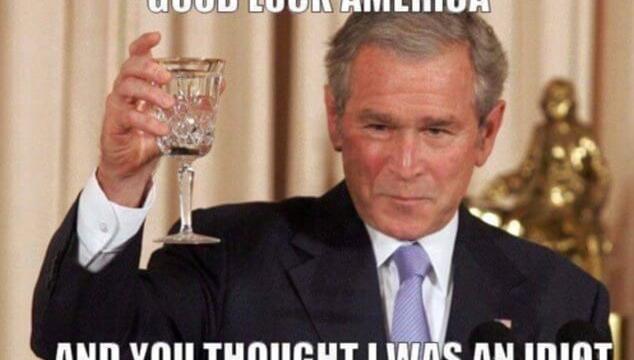 bush idiot trump