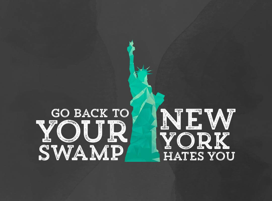donald trump new york hates you sticker tshirt