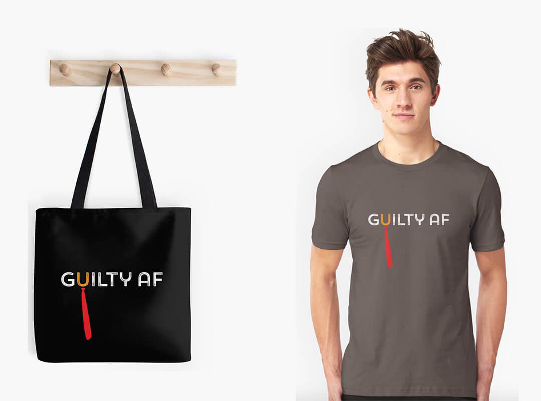 Guilty AF Trump T-shirts
