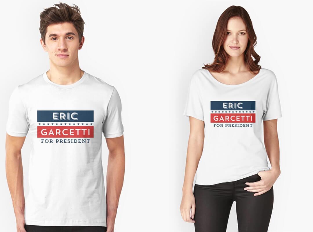 Eric Garcetti for President Shirts Bags