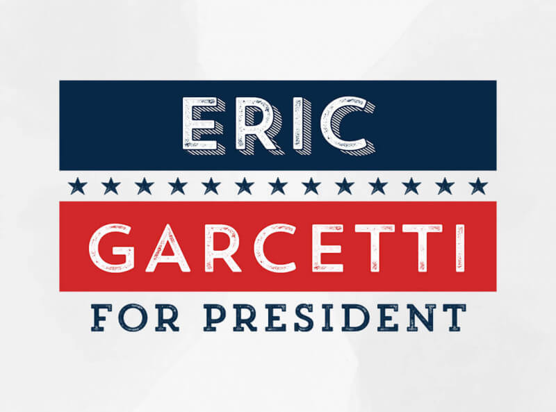 Eric Garcetti for President T-shirts Bumper Stickers