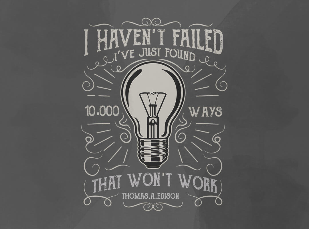 Thomas Edison quote t-shirts