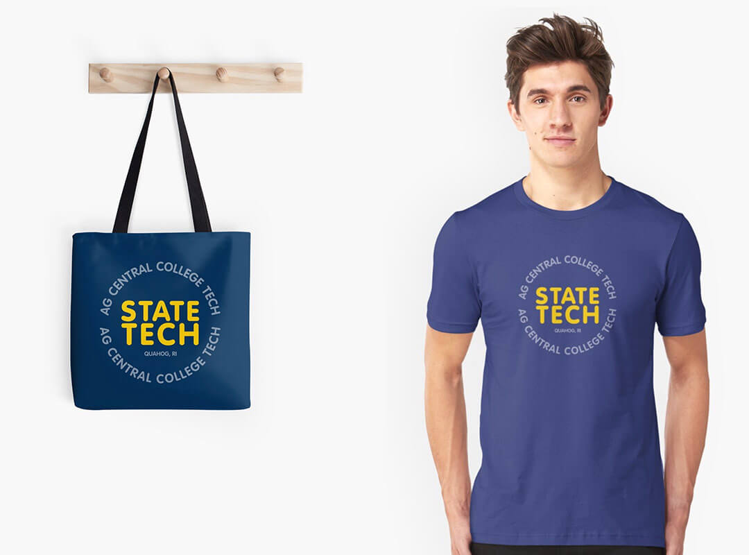 State Tech - Ag Central College Tech T-shirt Family Guy