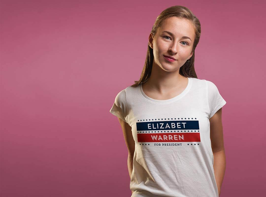 Elizabeth Warren for President t-shirts, stickers and more...