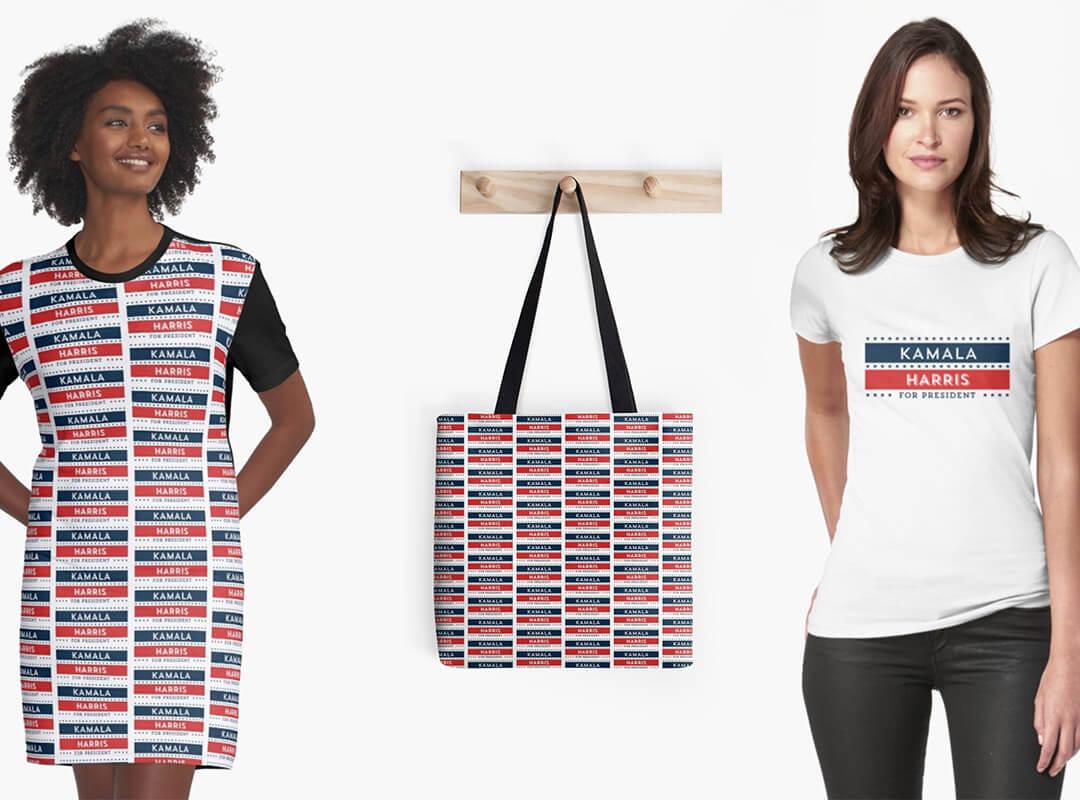 Kamala Harris for President shirt dress tote