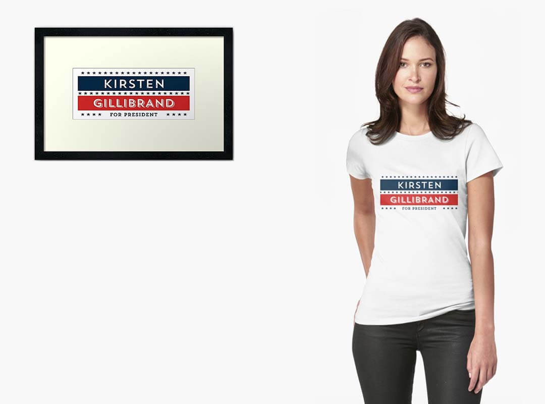 Kirsten-Gillibrand-for-President-T-shirts. Poster Stickers